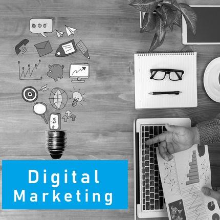 digital marketing logo home
