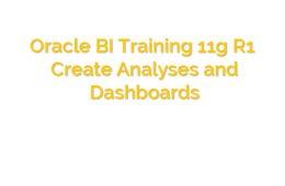 Oracle BI Course
