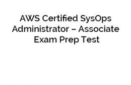 AWS SysOps Exam
